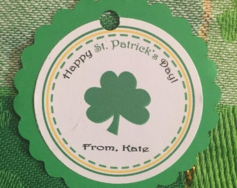 Custom Happy St Patricks Day Tags