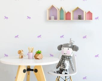 Vinyl child - Little unicorns - Mini removable decorative vinyl of unicorns