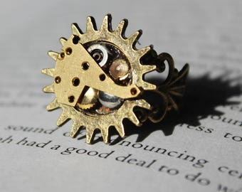 Steampunk Gear Ring