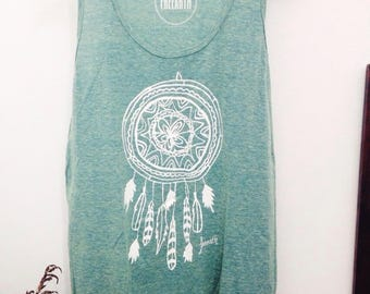 Dreamcatcher Unisex super soft tank top // Genderless, summery, evergreen, light sleeveless t-shirt