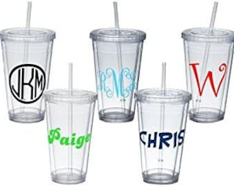 Custom Tumbler Cups - Bridesmaid Gifts - Bridal Party - Bridal Shower Gifts - Birthday Gift - Mothers Day - Fathers Day- College
