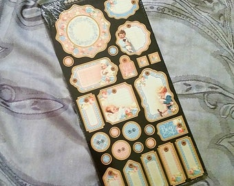 Graphic 45 ~Precious Memories Collection~ Chipboard One