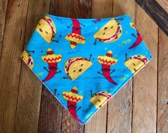 Tacos Baby Bandana Bib - Bibdana - Drool Bib - Baby Bib - Baby Bandana