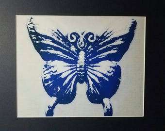 Butterfly Matted Photograph