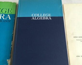 College Algebra-Charles H. Lehmann 1962-Vintage Math Text Book-Mid Century Learning-Retro Math Student Gift