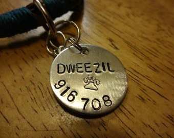 Hand-Stamped Pet ID Tag