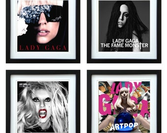 Lady Gaga - Framed Album Art - Set of 4 Images