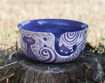 The Cat's Meow Yarn Bowl