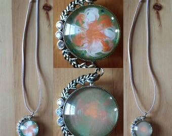 Necklace double Green