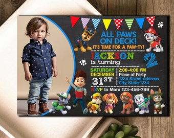 Paw Patrol Invitation / Paw Patrol Birthday / Paw Patrol Invite / Paw Patrol Birthday Invitation / Paw Patrol Party Invitation / Paw Patrol