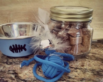 Cat Lover Gift Set | Treats, Toy and Bowl