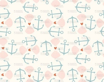 Nautical 1 Fabric by Laura_May_Designs
