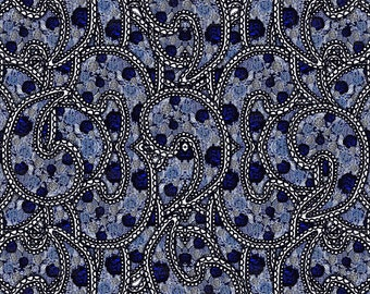 Paisleys Fabric by Maryartdecor
