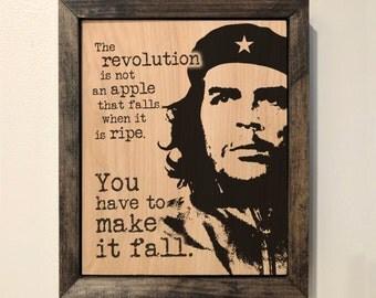 Che Guevara Wooden Sign