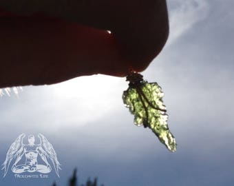 Moldavite Pendulum #1 Genine Natural Shape!!!