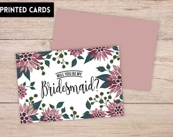 Will You Be My Bridesmaid Card, Will You be My Bridesmaid, Bridesmaid Card, colorful floral