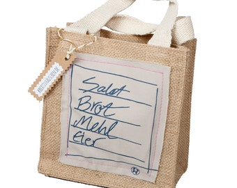 Jute bag shopping list