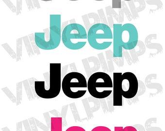 Jeep Wrangler Replacement lettering | Sahara | JK | TJ | Vinyl Decal Stickers Emblem Logo Graphic set