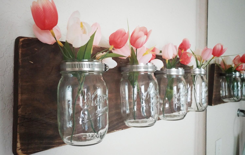 Mason Jar Wall Decor Mason Jar Organizer Bathroom Organizer