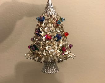 Vintage Christmas Ornament: Silver Tree