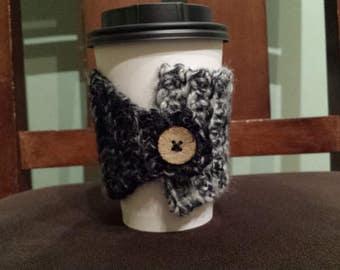 Cup Cozy - Black & Cream #2