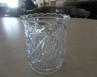 Vintage pressed glass