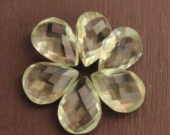 Green amethyst faceted natural Drop shape pear shape MM size available in 7x10, 8x12, 9x13, 10x14, 12x16, 13x18, 15x20, 16x22, 18x25, 20x30