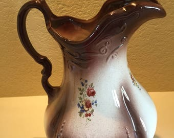 Vintage Ironstone Pitcher 1890