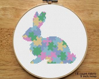 Puzzle Rabbit - Cross Stitch Pattern (Digital Download - PDF)