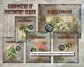 Apothecary Labels - Harbingers of Discomfort