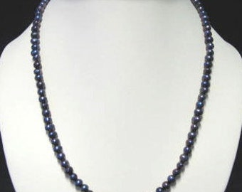 Black Freshwater Pearl necklace and bracelet