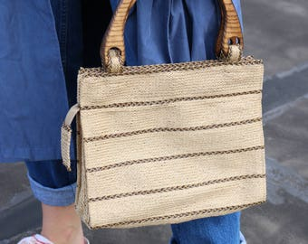 Vintage Straw Purse (Made in New York)