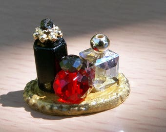 Miniature Dollhouse Perfume Bottles, Dollhouse Accessories, Scale 1:12, Scale one inch, Scale miniature