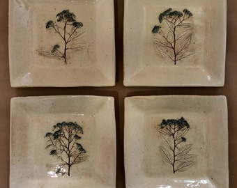 Hand made plates.