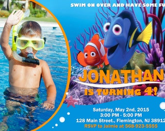 Finding Nemo Invitation Birthday Party