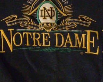 Vintage Notre Dame crewneck