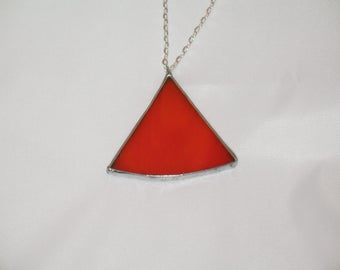Orange Stained Glass Necklace
