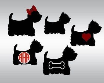 Westie svg, Westie silhouette svg, West Higland Terrier svg, Dog svg, SVG Files, Cricut, Cameo, Cut file, Clipart, Svg, DXF, Png, Pdf, Eps