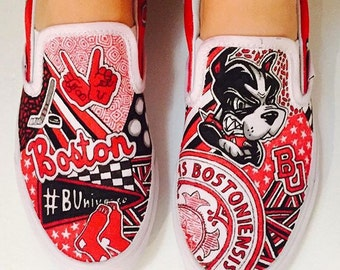 Boston University Custom Sneakers