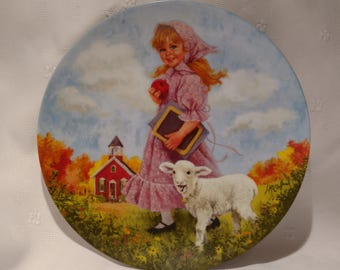 1985 Mother Goose Series Collection Plate Mary had a little lamb by John McClelland #7300C