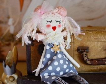 Heirloom doll, Rag doll, Soft doll, Doll, Handmade doll, nursery decor, home decor, Art doll, Collectible doll, Dolls, Girl doll, OOAK doll