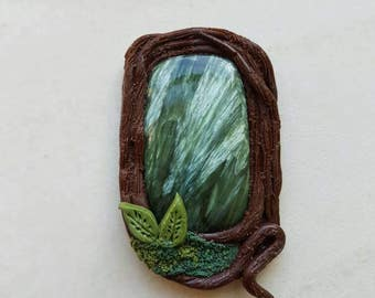 """Serephinite Enchanted Woodlands Pendant • """"Wings in the Evergreen Forest"""" •"""
