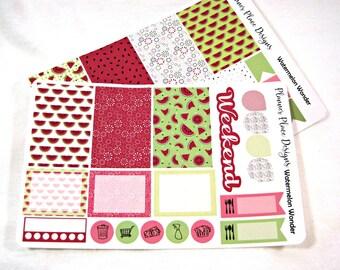 Planner Stickers - Weekly Planner Stickers - Happy Planner Stickers - Day Designer - Functional Stickers - Watermelon Stickers