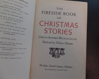 Fireside Book of Christmas Stories 1945 Vintage Book Collectible