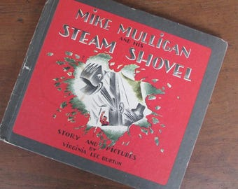 Mike Mulligan and His Steam Shovel by Virgina Lee Burton Children's Picture Book 1980 Edition
