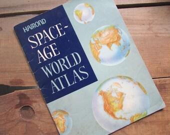 Atlas Maps Space Age World Atlas Vintage Hamond Maps 1967
