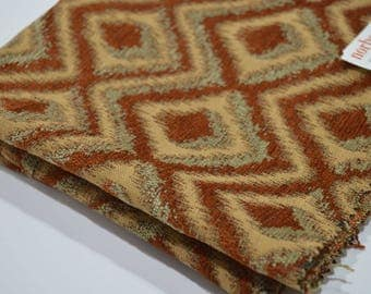 Norbar fabric sample-fabric remnant-upholstery fabric-luxury fabric-Rust, gold & gray-home decor fabric