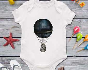 Hipster baby boy clothing, Funny baby bodysuit, Bear on the ballon, Exclusive 1st birthday gift, Baby shower present, Best baby bodysuit