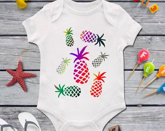 Pineapple baby bodysuit, Pineapple baby shower, Baby shower present, Funny baby clothing, Nice baby clothes, Custom baby, Tropic, Tropicana
