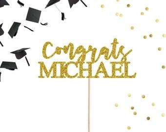 Congrats Cake Topper, Graduation Cake Topper, Custom Cake Topper, Retirement Cake Topper, Bachelorette Party, Bridal Shower Cake Topper